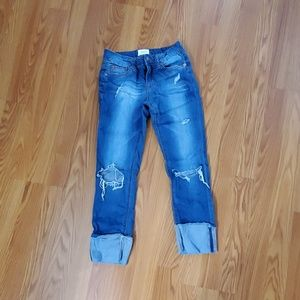 Hudson distressed cropped jeans size 12